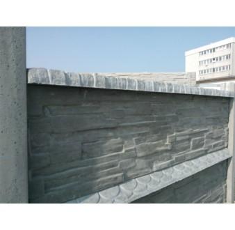 Betonová stříška pro jednostranný plot rovná