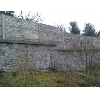 Betonový plot 71 Plus oboustranný přírodní