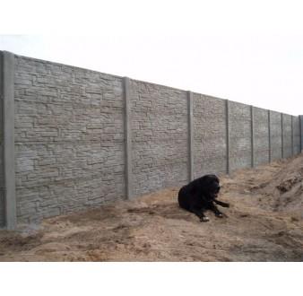 Betonový plot 73 Plus oboustranný přírodní
