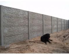 Betonový plot 17 Prima oboustranný přírodní
