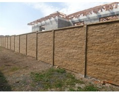 Betonový plot 17 Prima Dekor Plus oboustranný pískový
