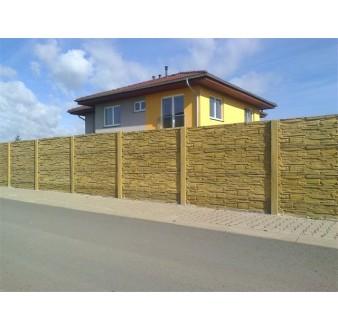 Betonový plot 11 jednostranný pískovec